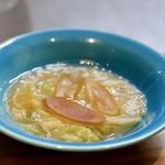 明道町中国菜 一星 - 白菜と干し貝柱煮込みとカラスミ