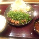 花ごろも - 熟成ねぎ味噌カツ定食(ロース・120g)