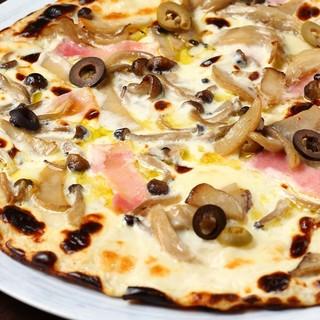 生地もチーズも選べる米粉の入ったオリジナルピッツァ
