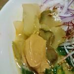 T'sたんたん - 搾菜の上にピーナッツペースト