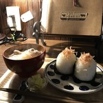 自家焙煎コーヒーcafe・すいらて - おにぎりモーニングがいただける日も、限定されました(2018.1.23)