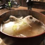 自家焙煎コーヒーcafe・すいらて - じゃがいも、人参、大根、それに当然の豚バラがたっぷりの豚汁です(2018.1.23)