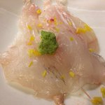 Nanaharu - ぐじの昆布〆。半分食べた後の写真ですみません