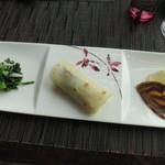79828039 - 北京ダックのクレープ巻きと彩り野菜マリネのコンビネーション