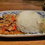 タイ料理レストラン ラナハーン - ガパオライス(S)600円