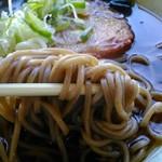 あさひ - 麺アップ 色黒ちゃんです。