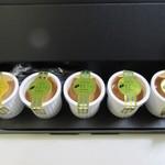 スイーツ みのりか - 九州黄金プリン5個入り1650円。種子島産の焼き安納芋をベースにした風味豊かなプリン、少しビターな生キャラメルがアクセントになってます。