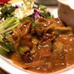 海老れんこん - チキンとキャベツのトマト味噌炒め