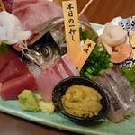 四ツ谷 魚一商店 - 特上刺身盛り合わせ3人前2,574円