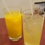 中国料理 白楽天 - オレンジジュース&リンゴジュース♪