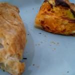 温かいパンと飲み物 デトゥール - 期間限定のミートパイ、薩摩芋とカボチャのパイキッシュ