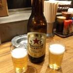よかたい - 赤星。大瓶は450円!安っ!