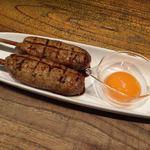 蕎麦ダイニング麻布 - 大葉風味のつくね焼き