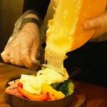 上野テラス - 「グリル野菜とハイジのラクレットチーズ」