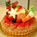 マムレスト - 料理写真:クリスマスケーキ(フルーツタルト)