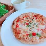ハンバーグカフェVeggy - ピザセット