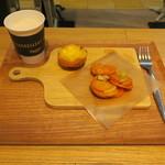 エッグセレント・バイツ - タルト&デリセット:エッグタルト キャロットラペ ミルクコーヒー1