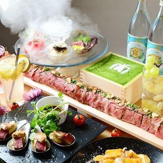 ◆最大60cm肉寿司&名物ロッシーニの女子会コース3500円