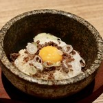 焼肉Garden MISAWA - 和牛ひき肉の石焼ゴハン