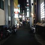 ごはんや優祐 - 北野坂西側の通り