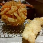 天ぷらまきの - かき揚げとイカ天です♪