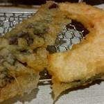天ぷらまきの - 茄子とカボチャの天ぷらです♪