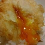 天ぷらまきの - 温泉玉子の天ぷらです♪