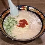 一蘭 - 天然とんこつラーメン(秘伝のたれ2倍)