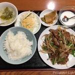 中華料理 華宴 - ニラレバ炒め定食(750円税込)