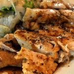 サラダの店サンチョ - 若鶏のグリルのアップ