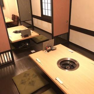 完全個室有り!貸切は20名様より承ります。