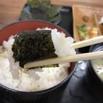 お弁当のヒライ - 海苔は こうやって食う