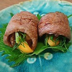 ごはんや優祐 - 雲丹の牛肉巻き
