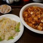 7989315 - 麻婆麺+半チャーハン600円