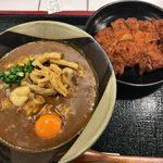 上等カレー - 「カレーうどん」840円+「トンカツ」200円+「チーズ」100円