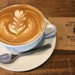 ワイズマンコーヒー - ドリンク写真:カフェラテ ラージ