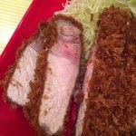 とんかつ檍のカレー屋いっぺこっぺ - お肉がジューシーです!