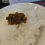 福ヤ - ライスに辛子高菜、最高!