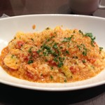 浅草イタリアン Tiamo 425 - 海老と彩り野菜のトマトリゾット