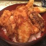 古月 - 銀むつ野菜天丼(890円)
