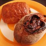 ル マヌー - チョコディニッシュとイチジクのハード系のパン