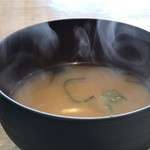 やきそば専門店 ばんばん - ワカメの味噌汁付き(2018.1.25)