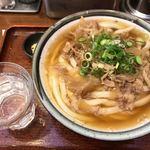 釜う - 肉うどん・ひやあつ(620円)
