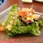 TOKI - ◆サラダ・・お野菜が高騰していますのに、この量を出されるのは嬉しい。 ミモザ風で美味しい。