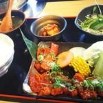 焼肉亭 - ハラミカルビ定食 1280円