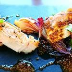 79908536 - 山形庄内豚と有機野菜のロティ  マスタードソース