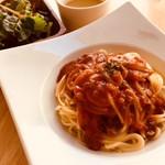 ハンバーグカフェVeggy - ミートソーススパゲッティ