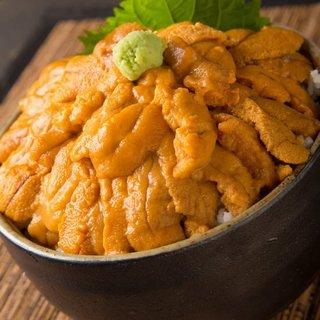 北海道産、由良雲丹など新鮮な雲丹を使った創作料理