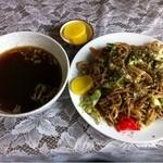 沖ふじ中華店 - 料理写真:焼そば 普通盛り (スープ付き)