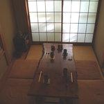 五十蔵 - 三畳半の小さな座敷です。ご利用の際はご予約をお願いします。